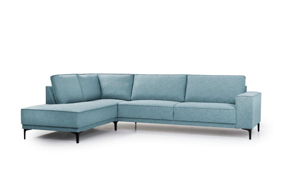COPENHAGEN open corner with 3 seater (GUSTO 29 sapphire) side softnord soft nord scandinavian style furniture modern interior design sofa bed chair pouf upholstery