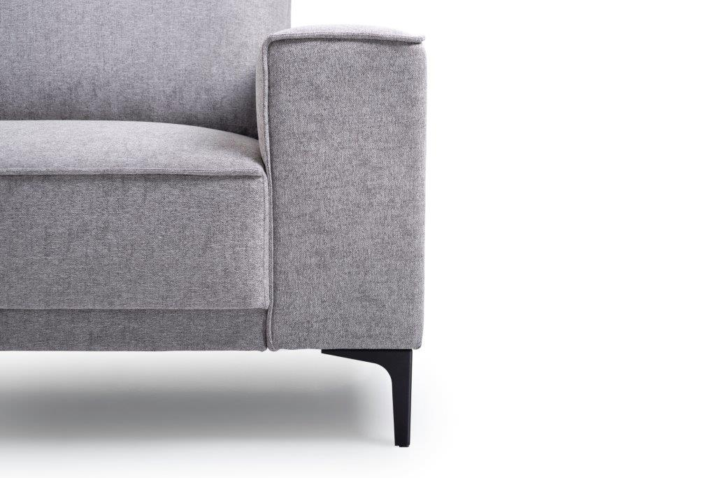 COPENHAGEN open corner with 3 seater (GUSTO 3.1 light grey) arm+leg