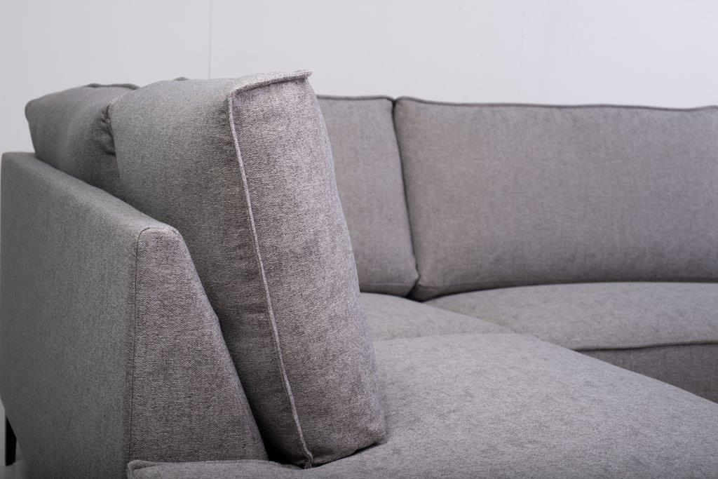 COPENHAGEN open corner with 3 seater (GUSTO 3.1 light grey) detail