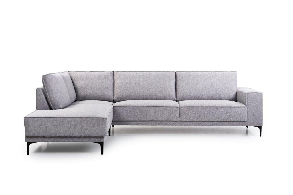 COPENHAGEN open corner with 3 seater (GUSTO 3.1 light grey) front
