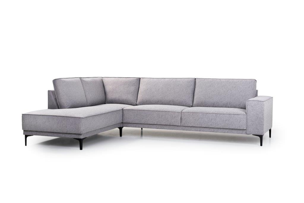 COPENHAGEN open corner with 3 seater (GUSTO 3.1 light grey) side