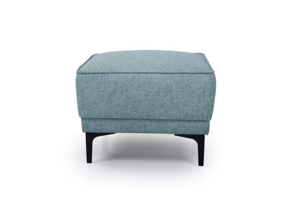 COPENHAGEN pouf (GUSTO 29 sapphire) front softnord soft nord scandinavian style furniture modern interior design sofa bed chair pouf upholstery