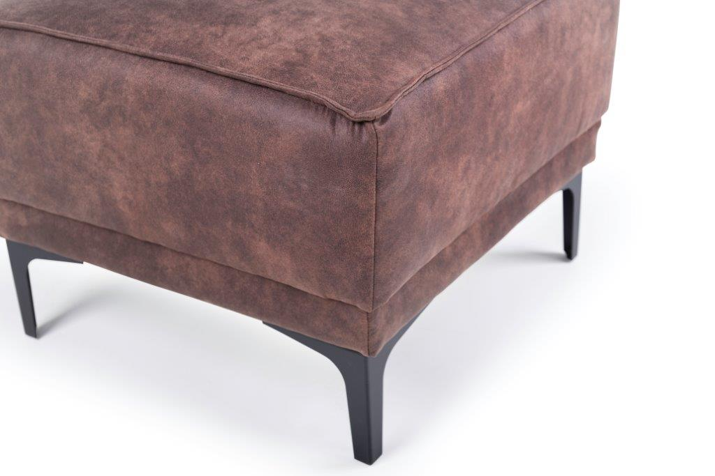 COPENHAGEN pouf (PRESTON 29 chocolate) detail softnord soft nord scandinavian style furniture modern interior design sofa bed chair pouf upholstery