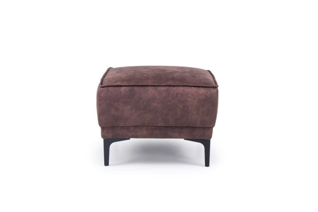 COPENHAGEN pouf (PRESTON 29 chocolate) front softnord soft nord scandinavian style furniture modern interior design sofa bed chair pouf upholstery