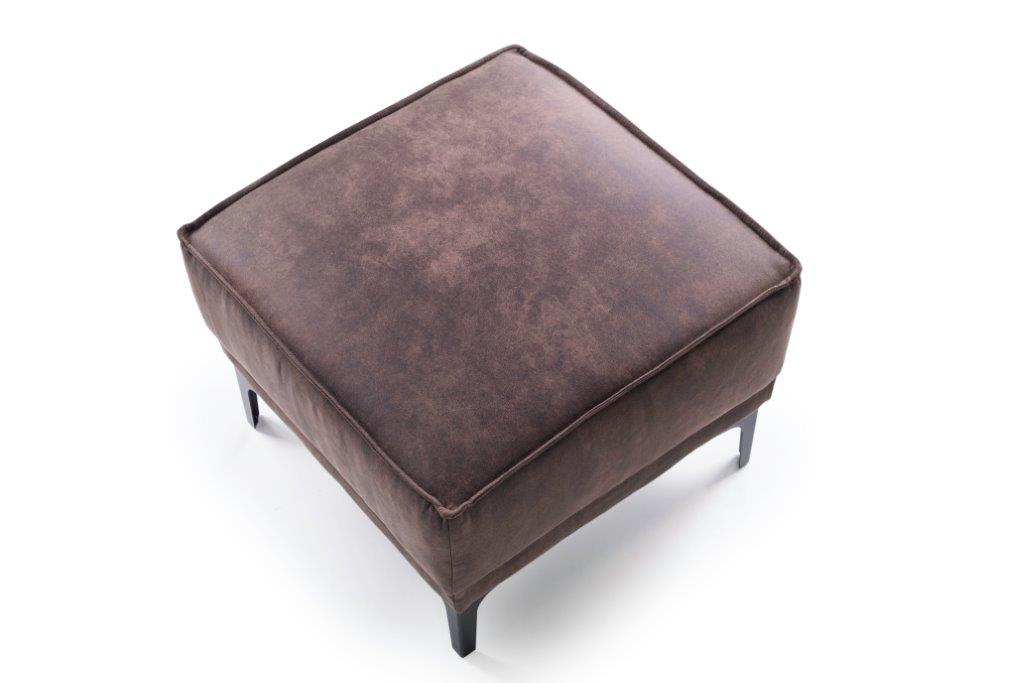 COPENHAGEN pouf (PRESTON 29 chocolate) top softnord soft nord scandinavian style furniture modern interior design sofa bed chair pouf upholstery