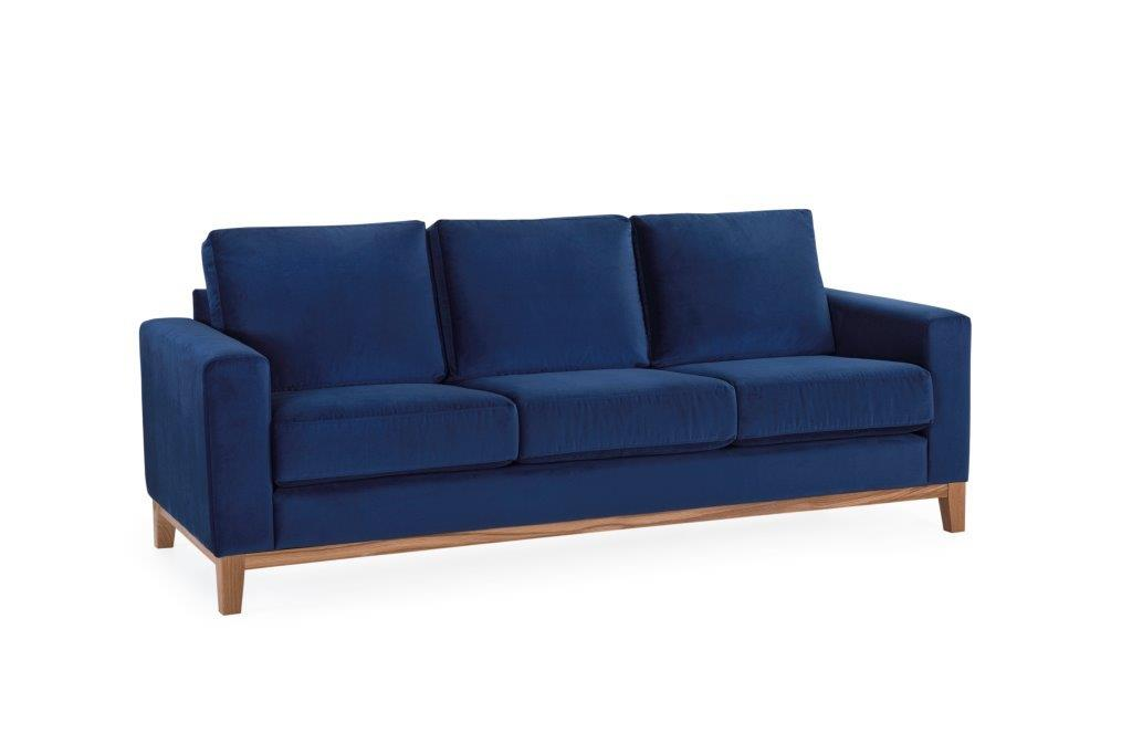 FOCUS DELUXE 3seater (Napoly 16,2 dark blue) softnord soft nord scandinavian style furniture modern interior design sofa bed chair pouf upholstery