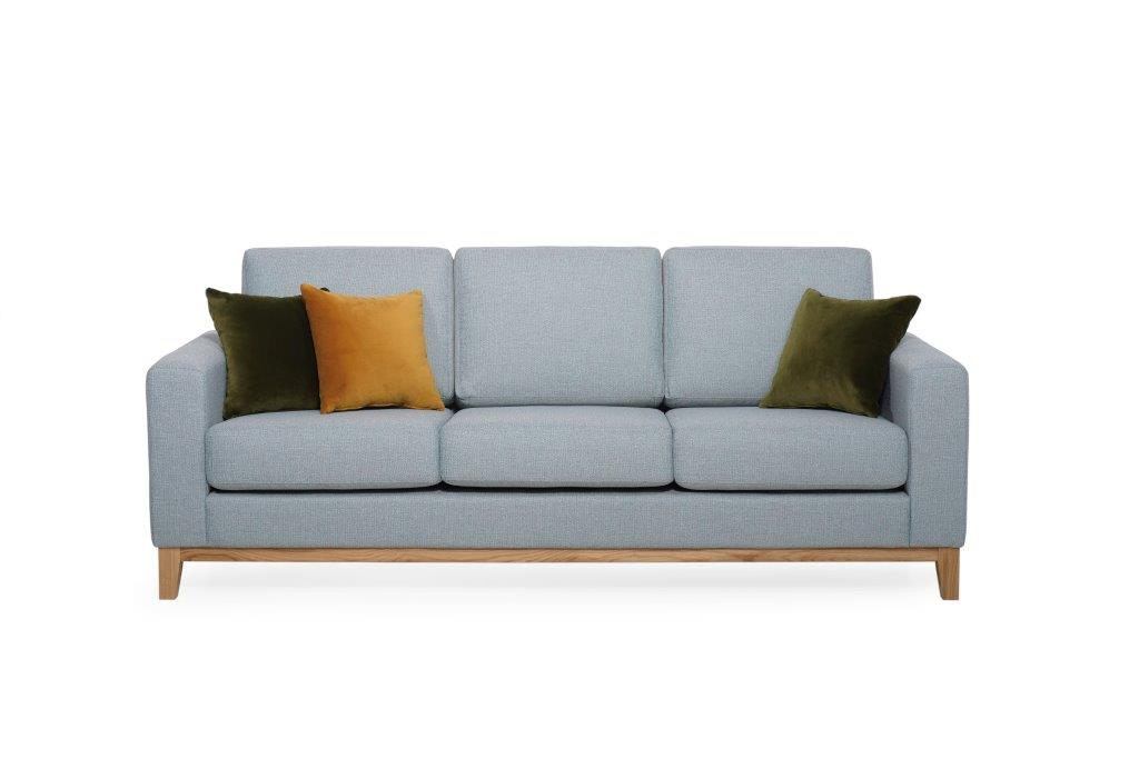 FOCUS deluxe 3 seater (Happy azzure) softnord soft nord scandinavian style furniture modern interior design sofa bed chair pouf upholstery