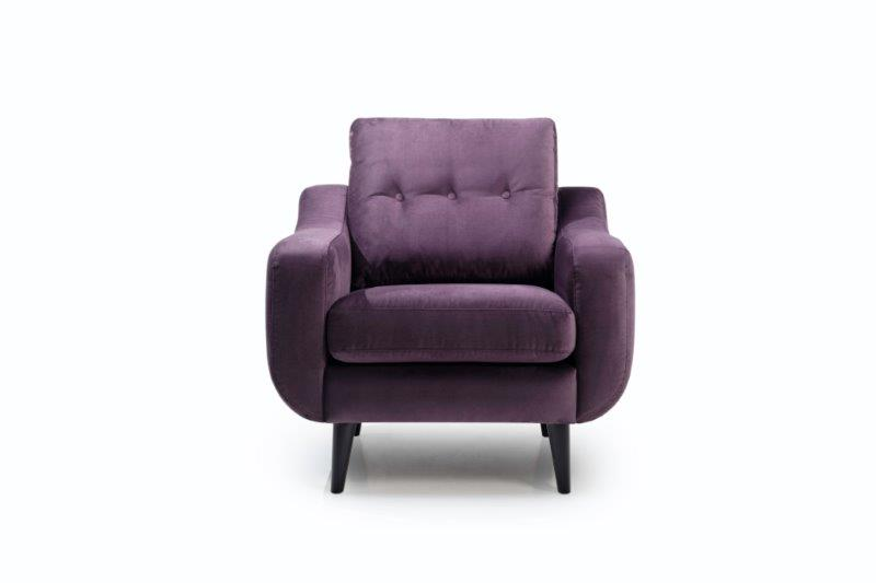 BOSCA 1 seater (REGAL 19 lily) front softnord soft nord scandinavian style furniture modern interior design sofa bed chair pouf upholstery
