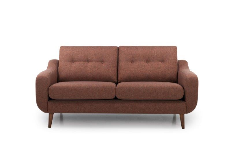 BOSCA 2 seater (ROSITA 20.2 dark orange) front softnord soft nord scandinavian style furniture modern interior design sofa bed chair pouf upholstery