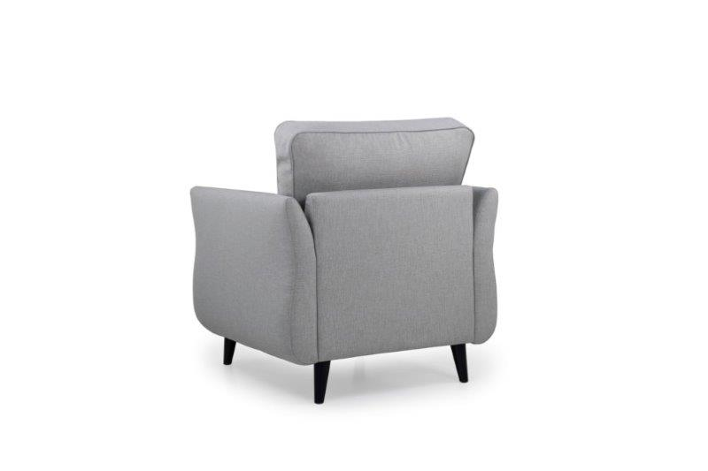 COCO 1 seater (LIDO 27 silver) back softnord soft nord scandinavian style furniture modern interior design sofa bed chair pouf upholstery