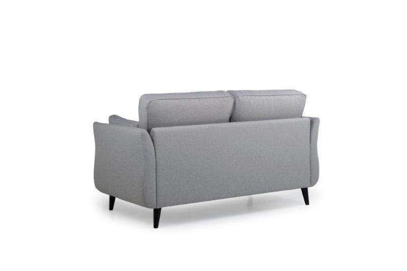 COCO 2 seater (LIDO 27 silver) back softnord soft nord scandinavian style furniture modern interior design sofa bed chair pouf upholstery