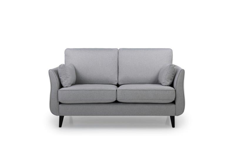 COCO 2 seater (LIDO 27 silver) front softnord soft nord scandinavian style furniture modern interior design sofa bed chair pouf upholstery