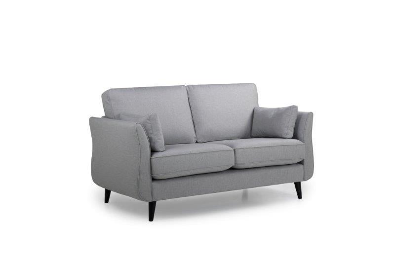 COCO 2 seater (LIDO 27 silver) side softnord soft nord scandinavian style furniture modern interior design sofa bed chair pouf upholstery
