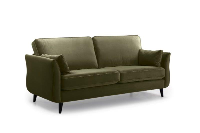 COCO 3 seater (TRENTO 13 khaki) side softnord soft nord scandinavian style furniture modern interior design sofa bed chair pouf upholstery