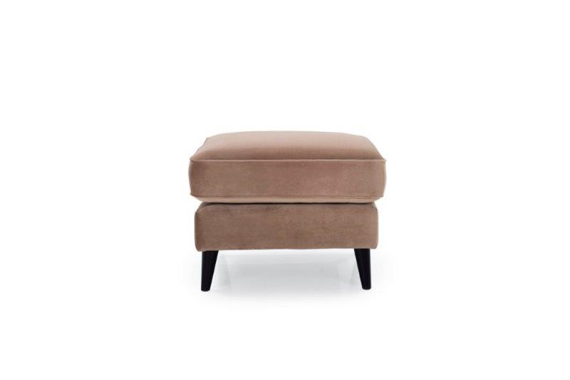 COCO pouf (TRENTO 9 cappuccino) front softnord soft nord scandinavian style furniture modern interior design sofa bed chair pouf upholstery