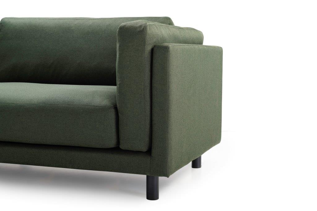 COUZ 2,5+90+2,5 (MALMO 17 green) arm + leg softnord soft nord scandinavian style furniture modern interior design sofa bed chair pouf upholstery