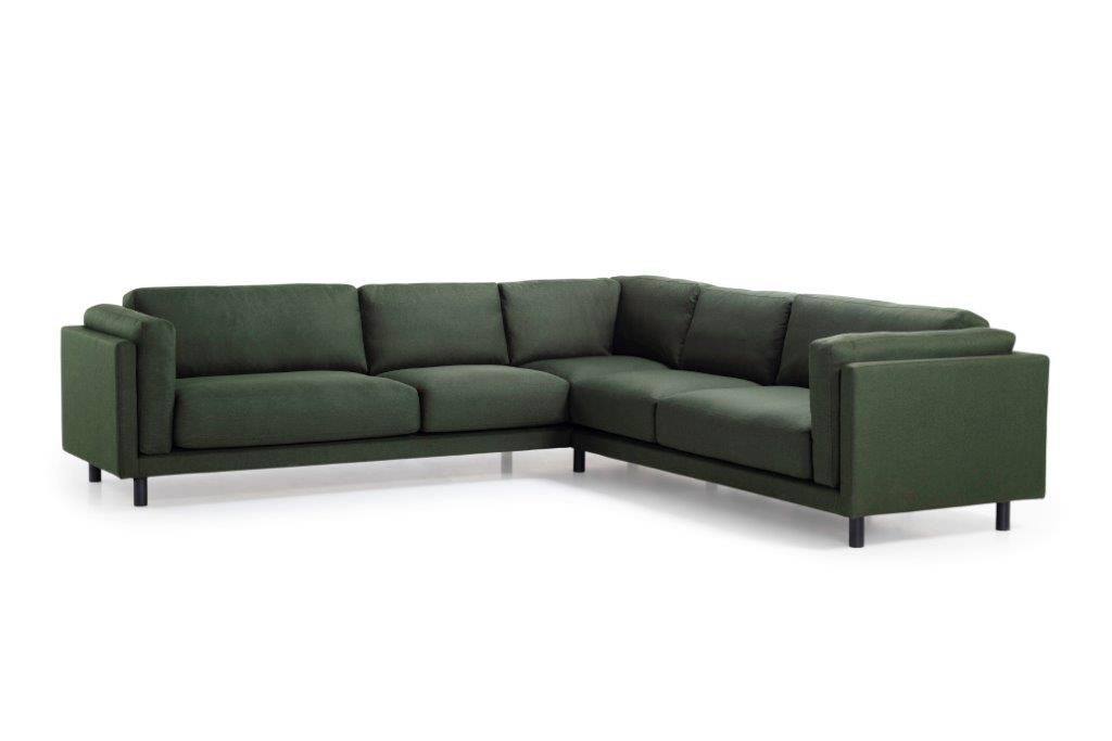 COUZ 2,5+90+2,5 (MALMO 17 green) side softnord soft nord scandinavian style furniture modern interior design sofa bed chair pouf upholstery