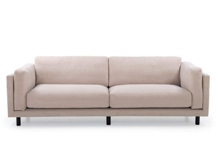 COUZ 3 seater (KISS 102 ecru) front softnord soft nord scandinavian style furniture modern interior design sofa bed chair pouf upholstery
