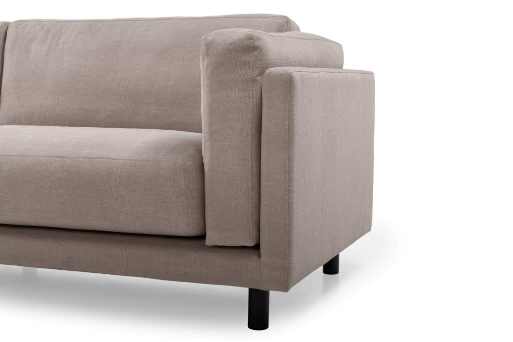 COUZ 3 seater (KISS 14 latte) arm+leg softnord soft nord scandinavian style furniture modern interior design sofa bed chair pouf upholstery