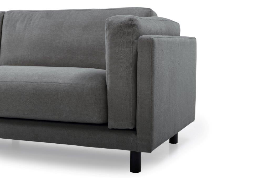 COUZ 3 seater (KISS 66 graphite) arm+leg softnord soft nord scandinavian style furniture modern interior design sofa bed chair pouf upholstery