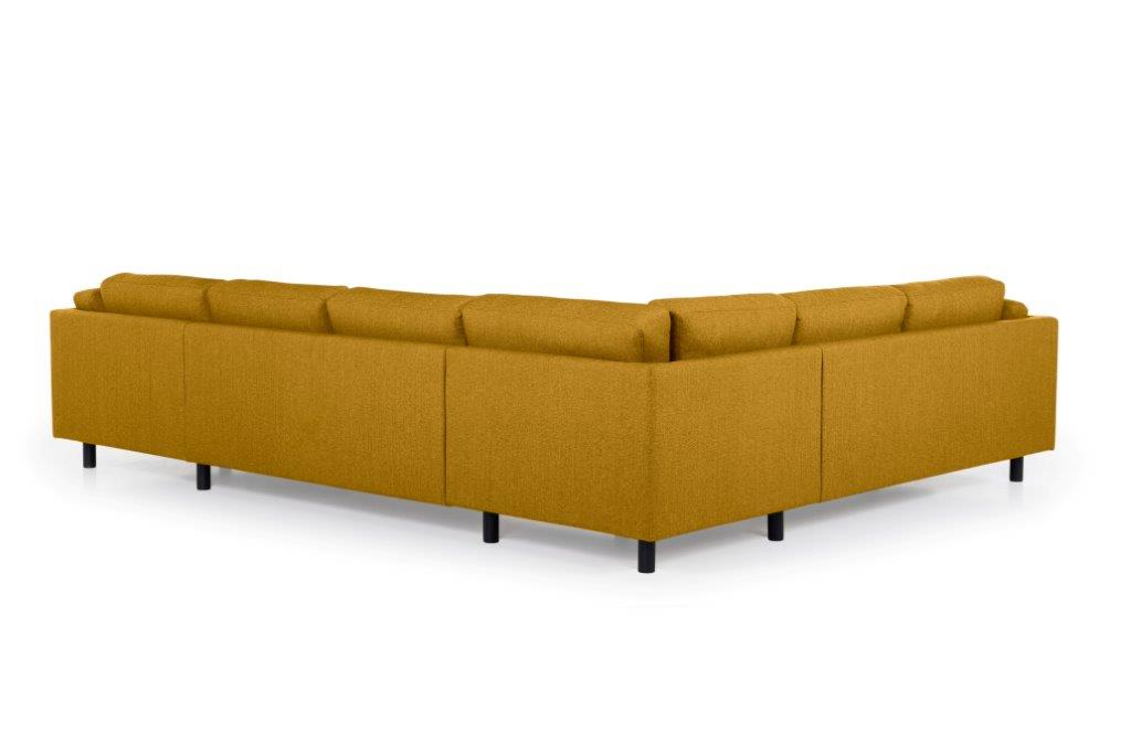 COUZ U-Corner with 2 seater (FAME 24 gold) back softnord soft nord scandinavian style furniture modern interior design sofa bed chair pouf upholstery