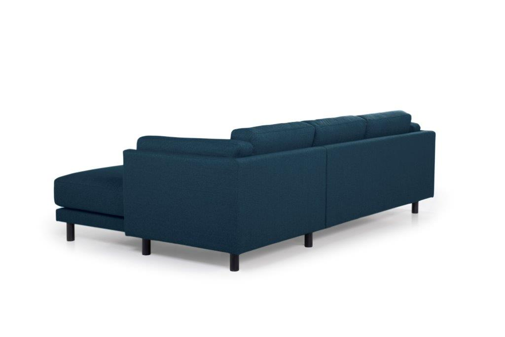 COUZ chaiselongue with 2 seater (FAME 16.2 dark blue) back softnord soft nord scandinavian style furniture modern interior design sofa bed chair pouf upholstery