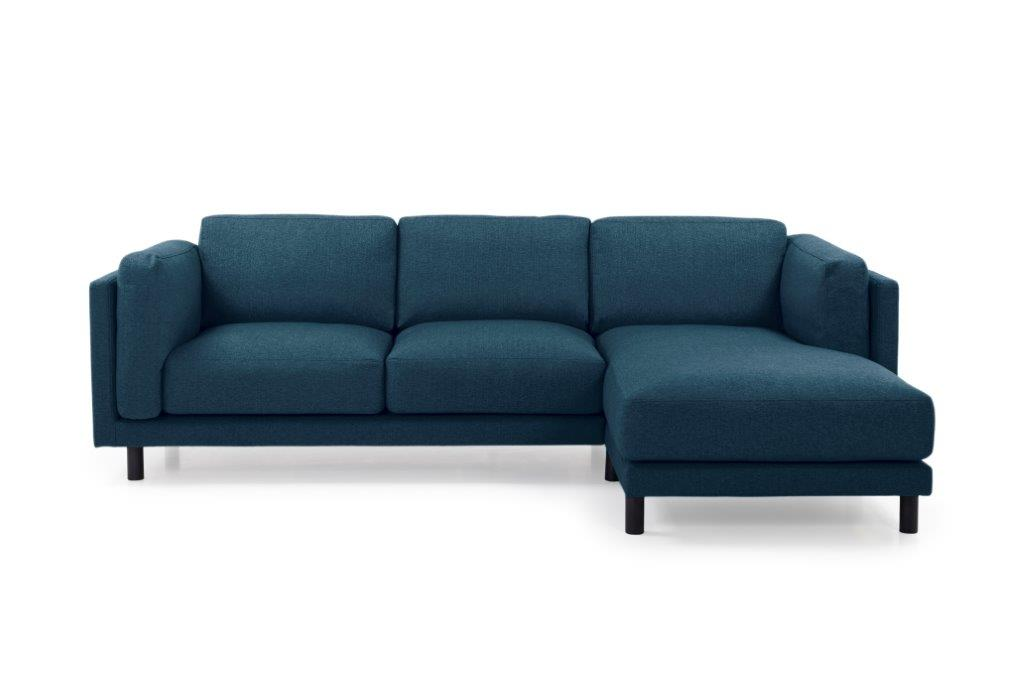 COUZ chaiselongue with 2 seater (FAME 16.2 dark blue) front softnord soft nord scandinavian style furniture modern interior design sofa bed chair pouf upholstery