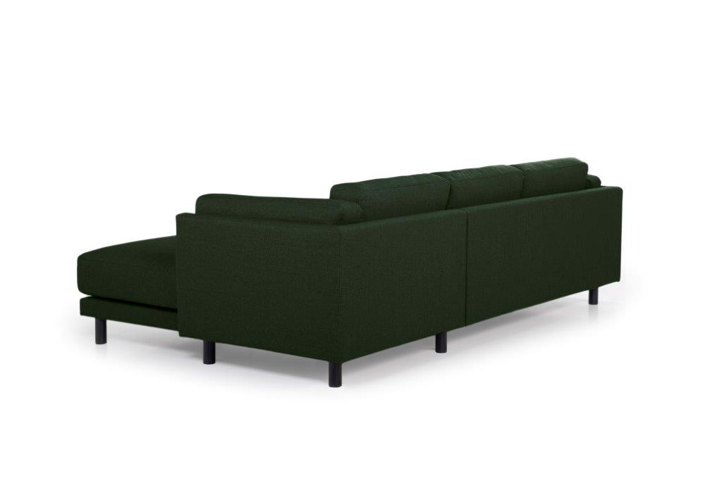 COUZ chaiselongue with 2 seater (FAME 17 green) back softnord soft nord scandinavian style furniture modern interior design sofa bed chair pouf upholstery