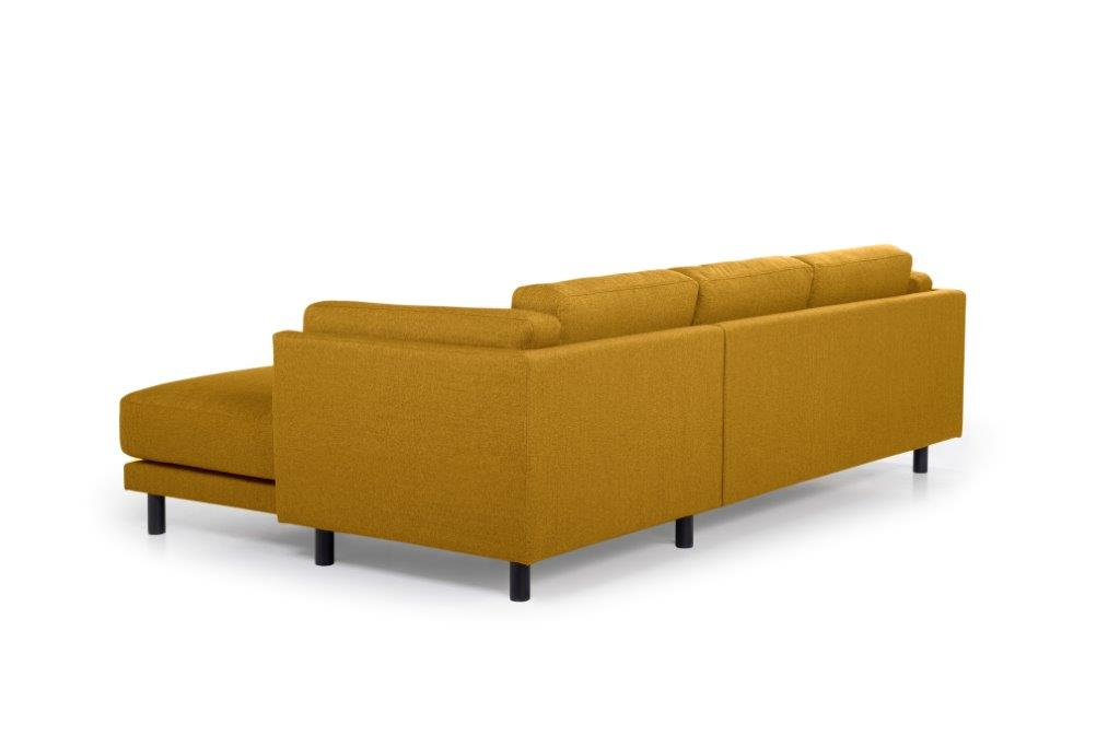 COUZ chaiselongue with 2 seater (FAME 24 gold) back softnord soft nord scandinavian style furniture modern interior design sofa bed chair pouf upholstery