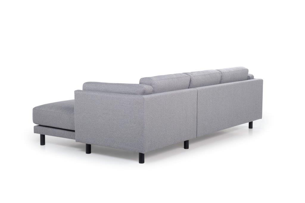 COUZ chaiselongue with 2 seater (FAME 3.1 light grey) back softnord soft nord scandinavian style furniture modern interior design sofa bed chair pouf upholstery