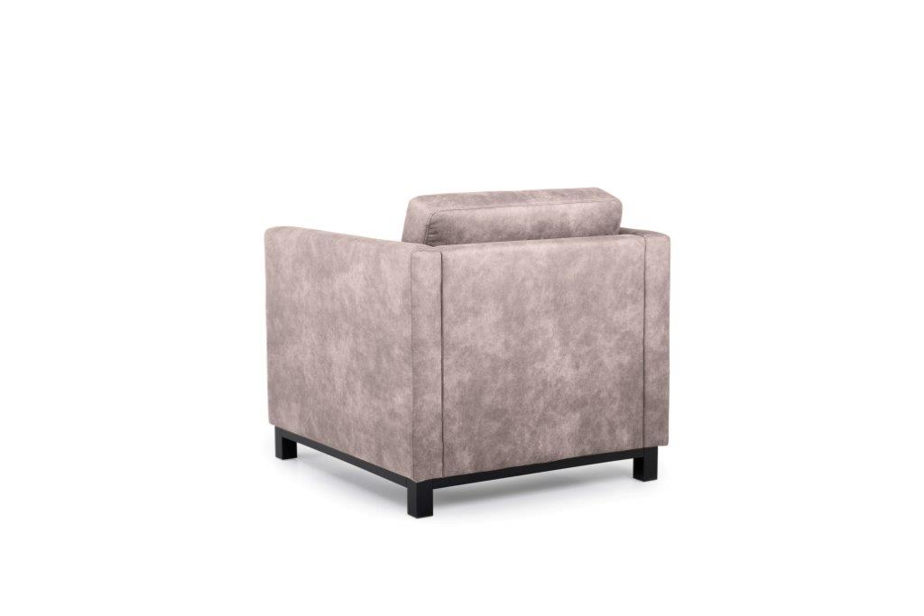 CUPID 1 seater (PRESTON 14 latte) back softnord soft nord scandinavian style furniture modern interior design sofa bed chair pouf upholstery