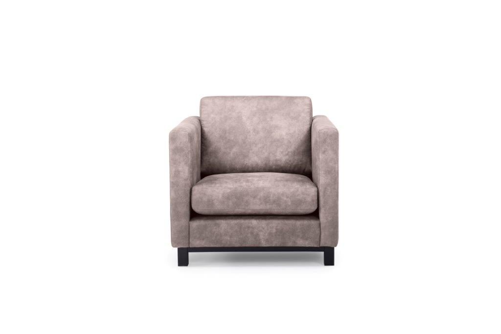 CUPID 1 seater (PRESTON 14 latte) front softnord soft nord scandinavian style furniture modern interior design sofa bed chair pouf upholstery