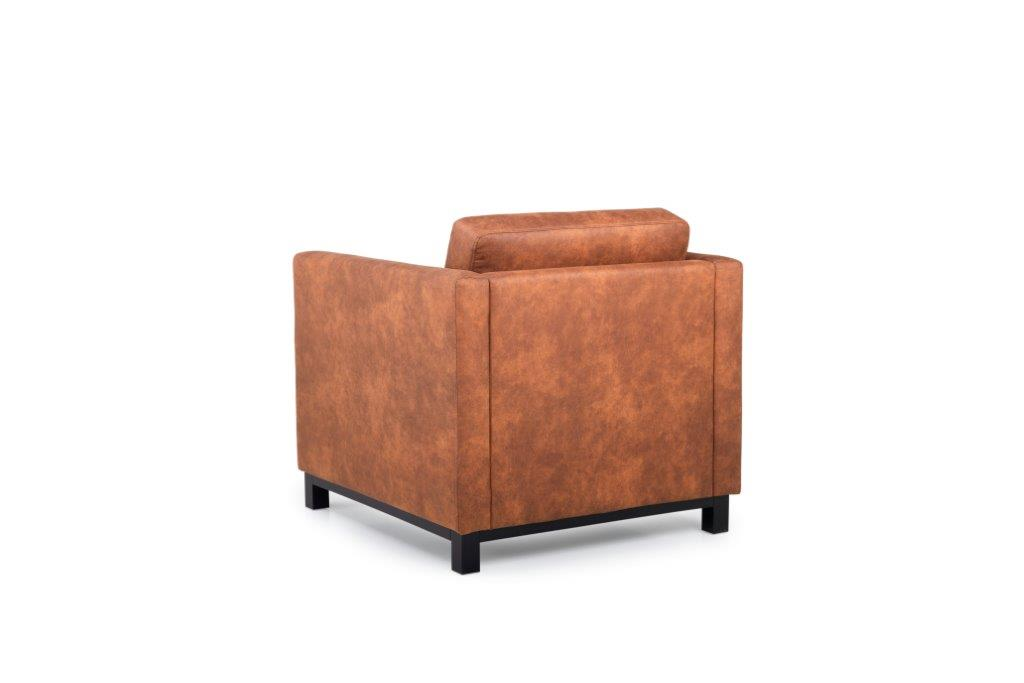 CUPID 1 seater (PRESTON 24 cognac) back softnord soft nord scandinavian style furniture modern interior design sofa bed chair pouf upholstery