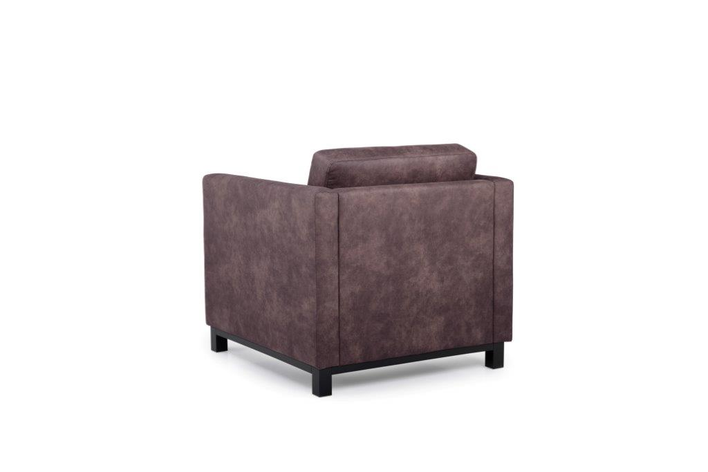 CUPID 1 seater (PRESTON 29 chocolate) back softnord soft nord scandinavian style furniture modern interior design sofa bed chair pouf upholstery