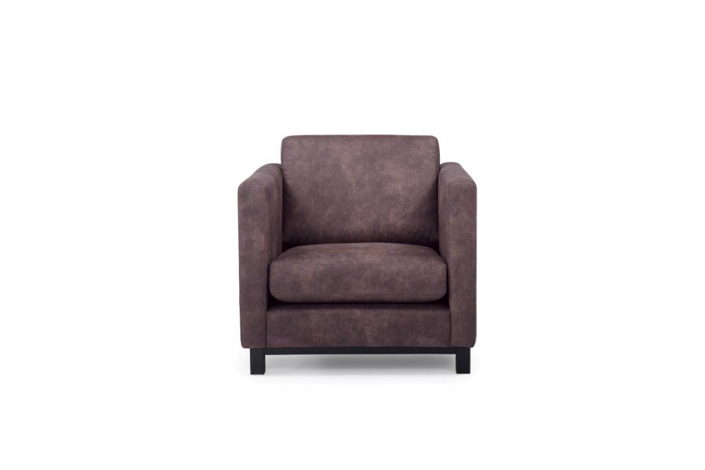 CUPID 1 seater (PRESTON 29 chocolate) front softnord soft nord scandinavian style furniture modern interior design sofa bed chair pouf upholstery