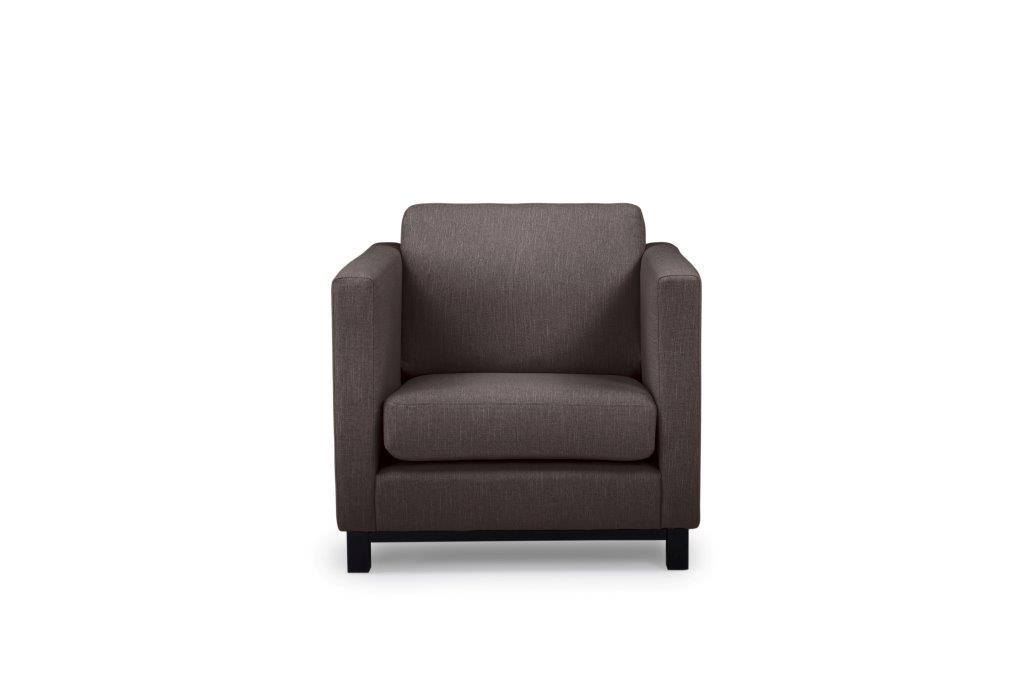 CUPID 1 seater (RONDA 20) front softnord soft nord scandinavian style furniture modern interior design sofa bed chair pouf upholstery