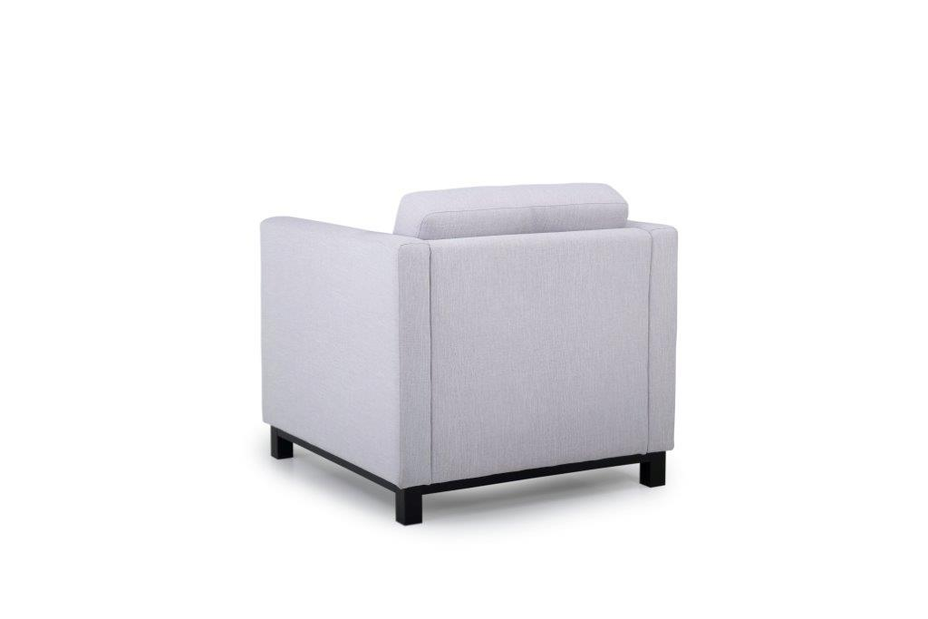 CUPID 1 seater (RONDA 3.1 light grey) back softnord soft nord scandinavian style furniture modern interior design sofa bed chair pouf upholstery