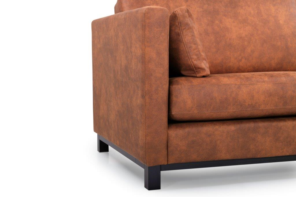 CUPID 3 seater (PRESTON 24 cognac) arm+leg softnord soft nord scandinavian style furniture modern interior design sofa bed chair pouf upholstery