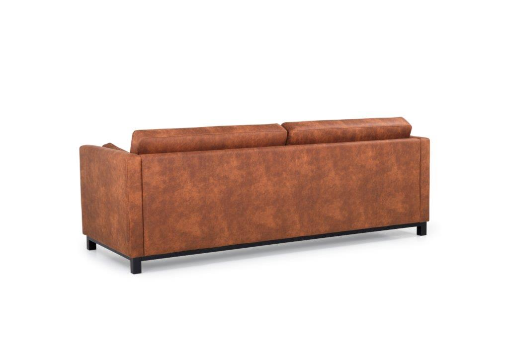 CUPID 3 seater (PRESTON 24 cognac) back softnord soft nord scandinavian style furniture modern interior design sofa bed chair pouf upholstery