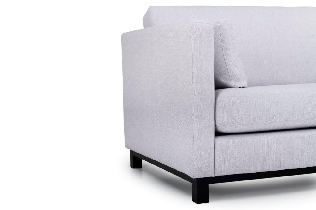 CUPID 3 seater (RONDA 3.1 light grey) arm+leg softnord soft nord scandinavian style furniture modern interior design sofa bed chair pouf upholstery