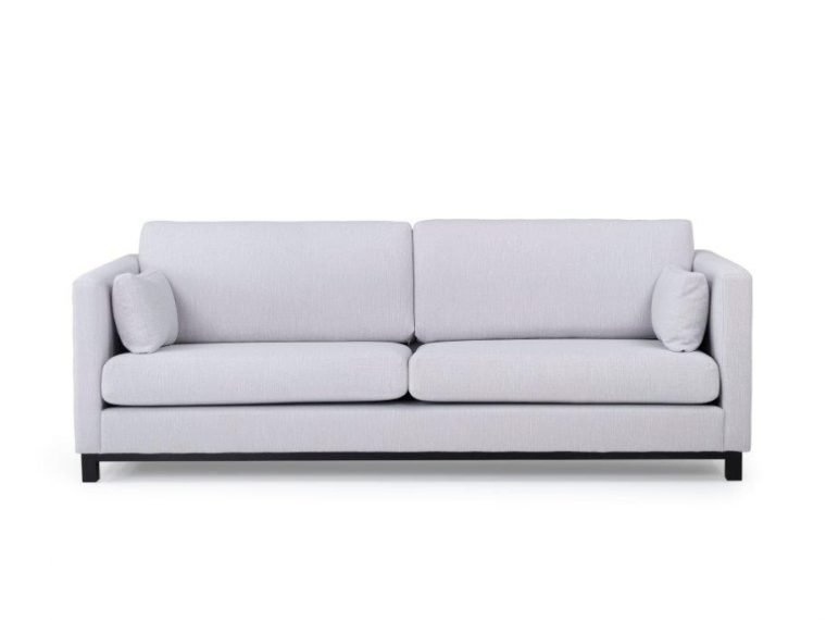 CUPID 3 seater (RONDA 3.1 light grey) front softnord soft nord scandinavian style furniture modern interior design sofa bed chair pouf upholstery