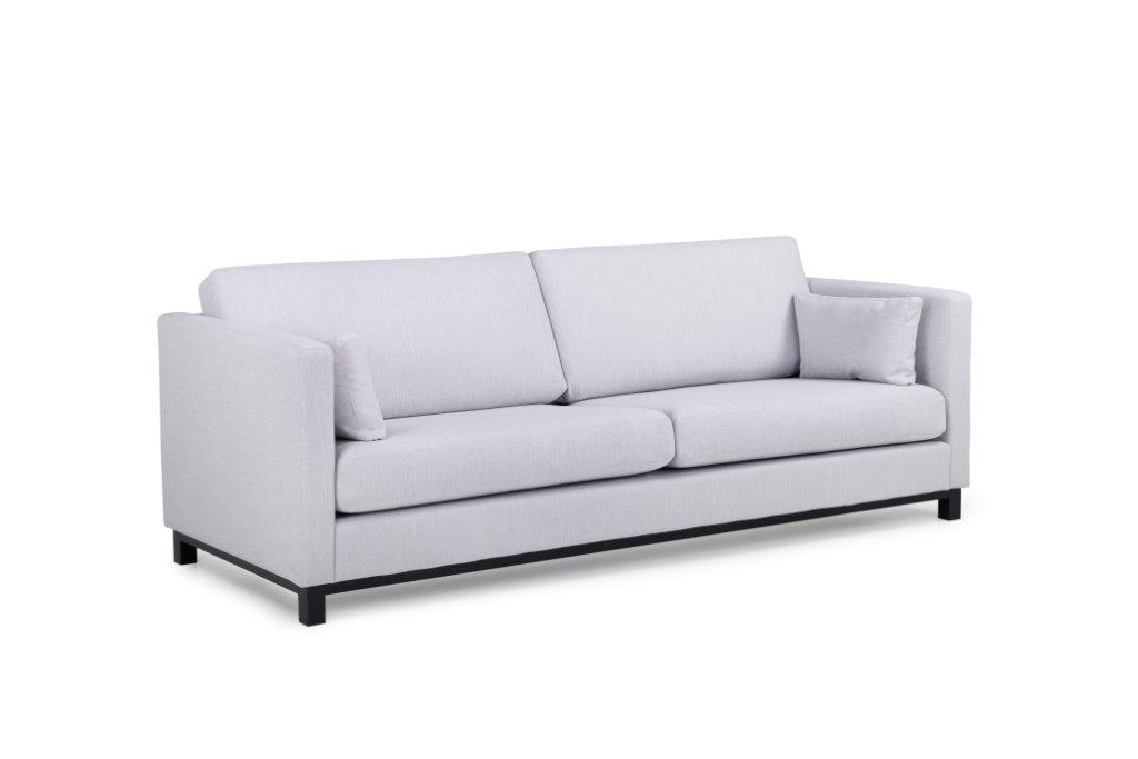CUPID 3 seater (RONDA 3.1 light grey) side softnord soft nord scandinavian style furniture modern interior design sofa bed chair pouf upholstery