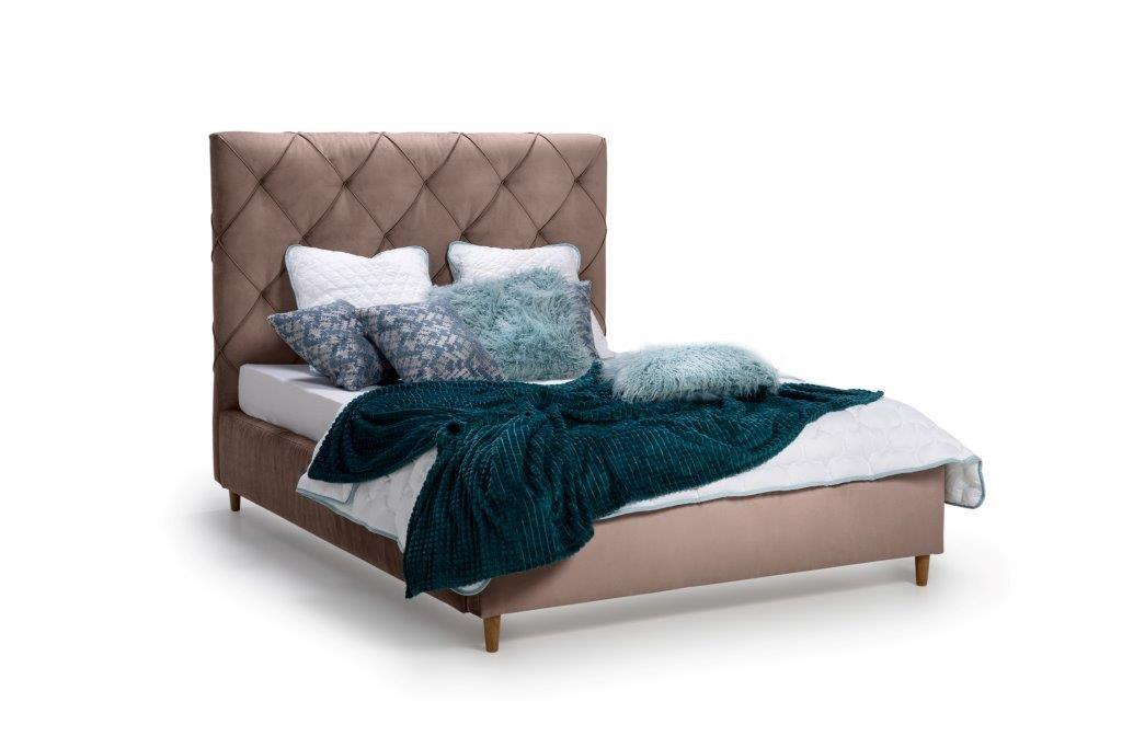 DOUBLE BED 1400 (TRENTO 5 brown) side softnord soft nord scandinavian style furniture modern interior design sofa bed chair pouf upholstery