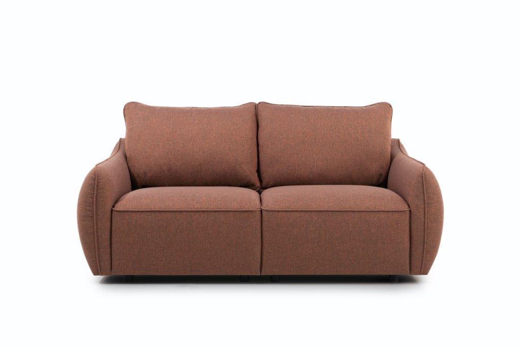 HUGO 2-seater (ROSITA 20-2 dark orange) front softnord soft nord scandinavian style furniture modern interior design sofa bed chair pouf upholstery