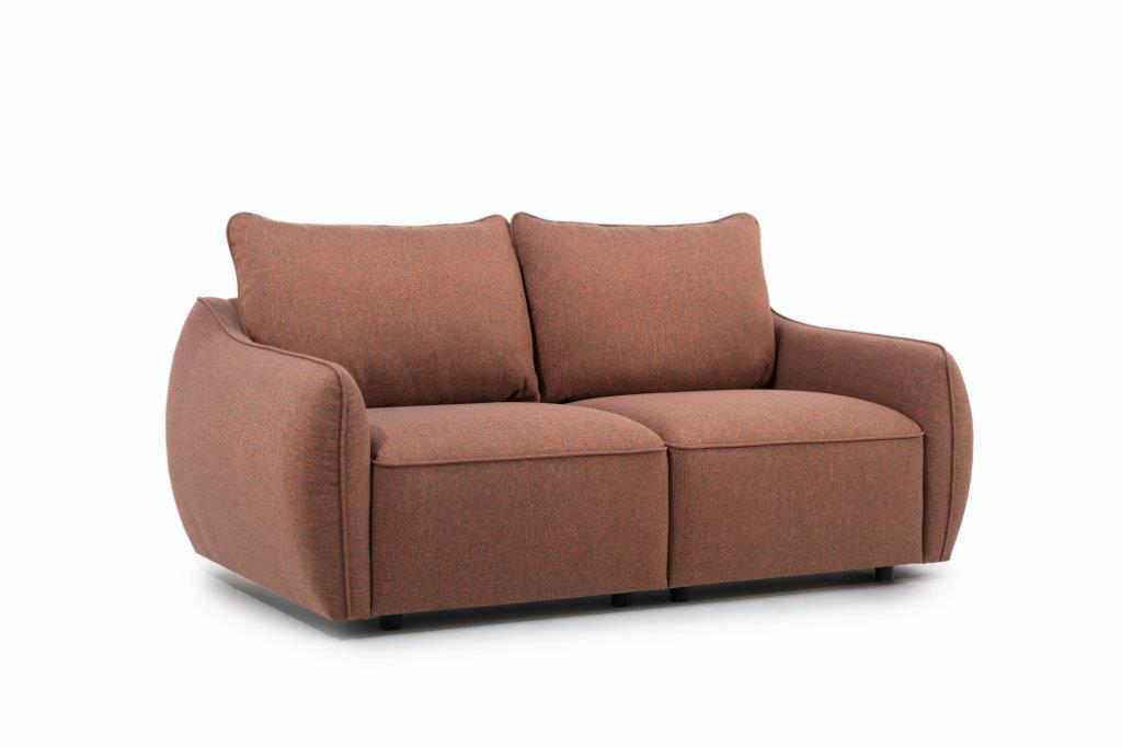 HUGO 2-seater (ROSITA 20-2 dark orange) side softnord soft nord scandinavian style furniture modern interior design sofa bed chair pouf upholstery