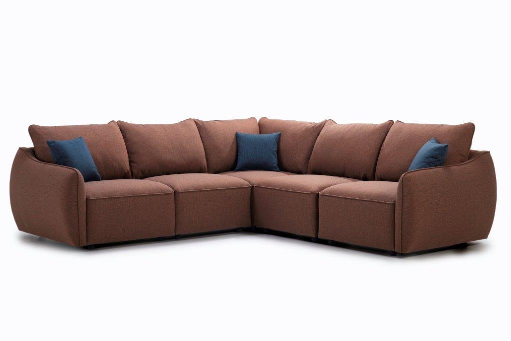 HUGO 2+90+2 (ROSITA 20-2 dark orange) side softnord soft nord scandinavian style furniture modern interior design sofa bed chair pouf upholstery