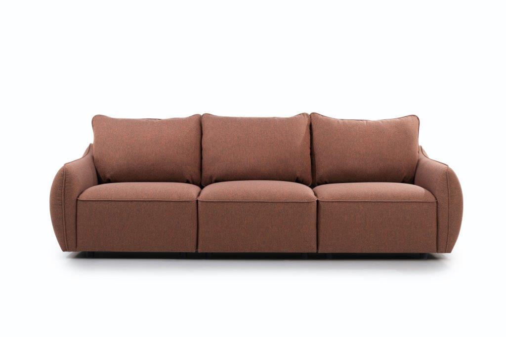 HUGO 3-seater (ROSITA 20-2 dark orange) front softnord soft nord scandinavian style furniture modern interior design sofa bed chair pouf upholstery