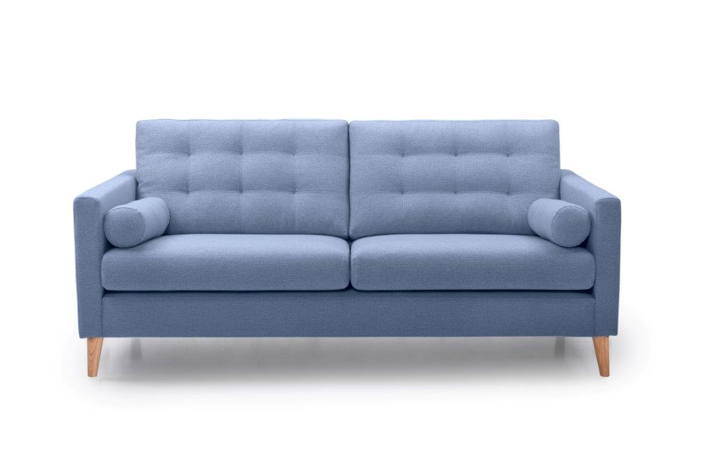 OSCAR 3 seater (REDA 16_1 light blue) front softnord soft nord scandinavian style furniture modern interior design sofa bed chair pouf upholstery