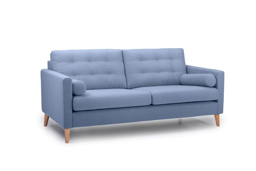 OSCAR 3 seater (REDA 16_1 light blue) side softnord soft nord scandinavian style furniture modern interior design sofa bed chair pouf upholstery