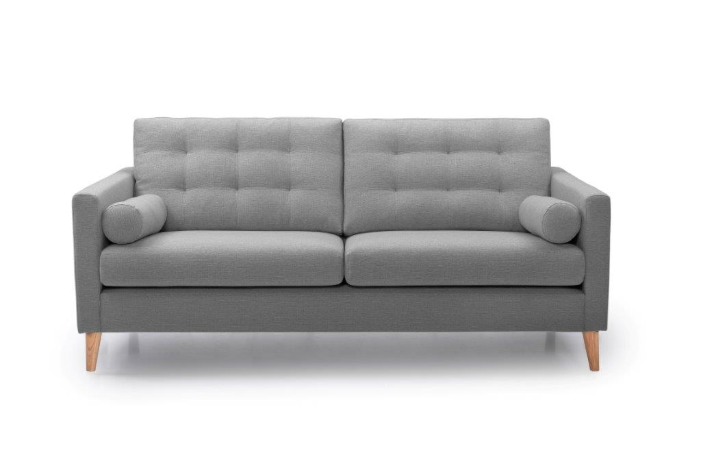 OSCAR 3 seater (REDA 3 grey) front softnord soft nord scandinavian style furniture modern interior design sofa bed chair pouf upholstery